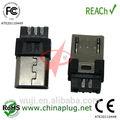 Conector micro USB macho para carga de teléfono móvil