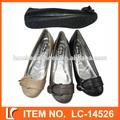 suave plana de las señoras zapatos de la bailarina de estilo