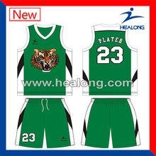 camiseta de baloncesto baratos de baloncesto superior y pantalones cortos