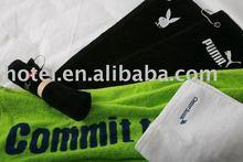 De lujo toallas de golf con el logotipo bordado, toallas del hotel