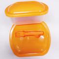 microwavable llevar caja de comida de plástico contenedor