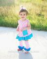 hermoso bebé niña ropa de bebé niña conjunto de verano para los niños