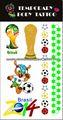 nueva etiqueta engomada del tatuaje temporal para la Copa del mundo 2014