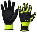Tpr impacto hign guantes para matón anti- la vibración de arena de espuma de nitrilo guantes