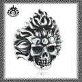nueva moda de acero inoxidable 2014 stjz245 gótico anillos rey león