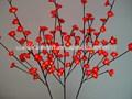 decorativos de luz hasta las ramas de la flor