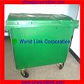 contenedores de plástico 660L contenedores de basura de plástico