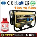 Gas natural y glp gnc generador de gas natural licuado 2014 2kw generador de gnc( zh2500cnhd)