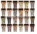 las mujeres baratoalta cintura en digital de impresión completa sin polainas fotos