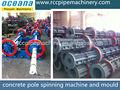 Pré- a souligné les poteaux électriques en béton, poteaux électriques ligne de production