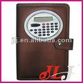 promocionales de cuero cuaderno de calculadora con la pluma