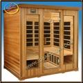 carbono infrarrojo sauna de cedro