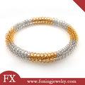 joyería para el regalo de la mujer de acero inoxidable de plata y de oro pulsera de alambre