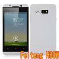 Feiteng h80w mtk6572w androide dual core móvil de doble cámara de luz de flash androide del teléfono celular del teléfono móvil