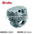 Para stihl 5800 45.2mm nikail de cerámica de la cadena de sierra del cilindro