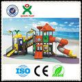 2013 Animais crianças estilo escorregas gigantes playground / parque infantil / aventura playgrounds QX-11023B