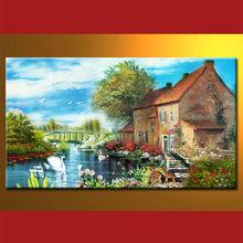 el más nuevo diseño de pinturas al óleo de la foto del paisaje