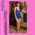 ML2146 Azul atractivo Backless atractiva lencería sexy erótica