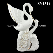 Amante de cerámica cisne blanco
