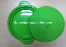 Silicone folding placa/prato de comida