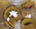 20x25cm- 100x100cm flor da lona da pintura a óleo com cores vivas para a galeria de arte