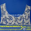 yjc16341 diseño de bordado de ganchillo de algodón de cuello de encaje para los patrones de vestidos