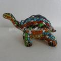 polyresin mosaico figura de la tortuga