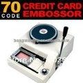 70- personagem manual de plástico pvc máquina impressora do cartão, placa de imprensa da máquina de gravação,