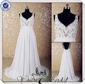 jj3578 largo con cuentas de ucrania de gasa vestido de novia de venta al por mayor de china