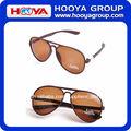 2014 nuevo modelo redondo grande y plana marrón gafas de sol