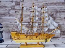 45cm decorativos de madera del barco con remos modelo