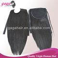 grado superior creativo de cola de caballo negro humanos extensiones de cabello