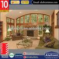de aluminio revestido de madera ventanas y puertas con puenteenarco decorativos