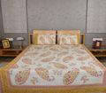 100% sábanas de algodón indio de algodón de impresión colchas/cubrecamas