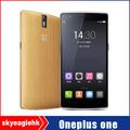 Original oneplus one+ móvil de los teléfonos celulares de núcleo cuádruple teléfonos android 3g+64g rom 5.5'' 13mp
