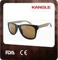 hecho a mano de diseño colorido baratos polarizado gafas de sol de madera