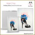 8x12 alta- zapato de tacón más reciente de la boda de álbum de fotos de cristal de diseño de la cubierta del álbum