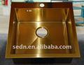 Gold aço inoxidável pia de lavar roupa