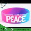 paz tie dye peacesign símbolo hippie silicone pulseira bracelete vintage swag