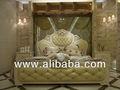 style français mobilier de chambre de luxe chambre à coucher en bois sculpté lit