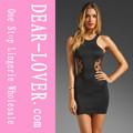 negro polka dot mini vestido de la señora bodycon 2013 vestidos