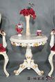 mano antiguos muebles de madera tallada - Mesa realeza artesanía de madera maciza