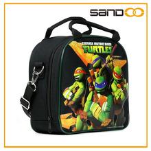 De dibujos animados térmica almuerzo bolsas para los niños, teenage mutant ninja turtles caja de almuerzo