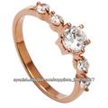 El cristal de moda los diamantes anillo de bodas