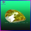 wuzhou pêra e maçã verde cz pedra de polimento