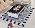 moderno en blanco y negro diseñado alfombras de sala