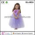 flor de la moda infantil púrpura vestido tutú de tul vestido de suave y esponjosa tutu vestido para la boda y la fiesta