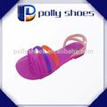 nueva correa de pvc de verano al aire libre casual sandalias de cristal chica zapatos