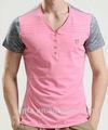 2014 el último diseño de encargo de color rosa de algodón camiseta proveedor