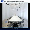 De lujo artificial/hombre- hecho/sólido de la superficie de vidrio moderno escritorio de oficina